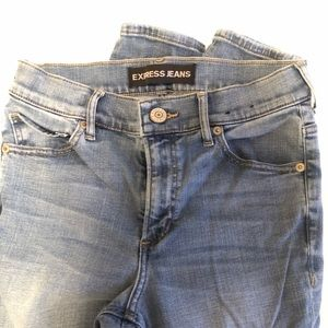Express Jeans - Light Wash High Waisted Jeans